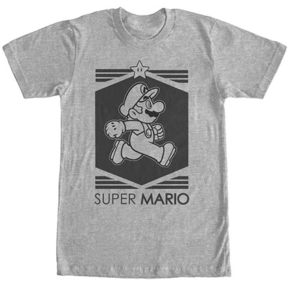 Nintendo Mario Billion Gray T-Shirt