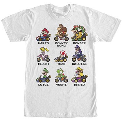 Nintendo Mario Kart Racers White T-Shirt