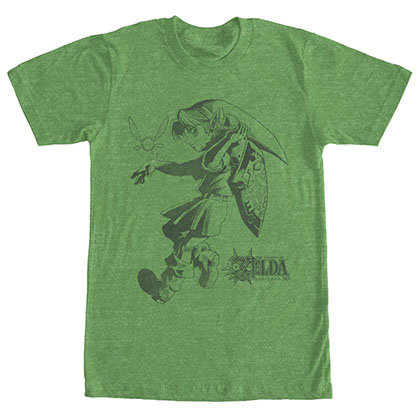 Nintendo Legend Of Zelda Link Outline Green T-Shirt