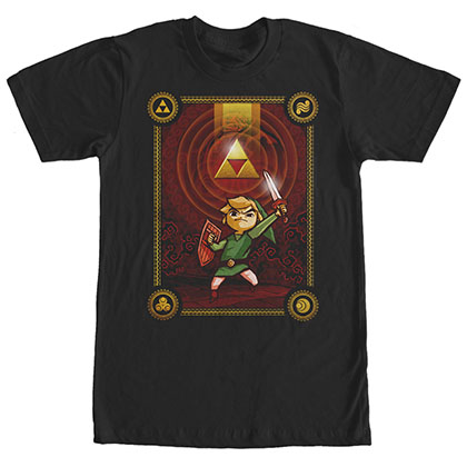 Nintendo Legend Of Zelda Triforce Dawn Black T-Shirt