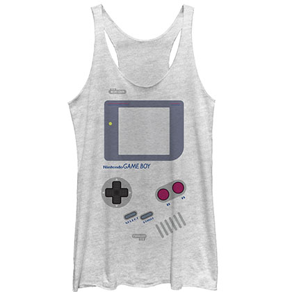 Nintendo Game Boy Gray Juniors Tank Top