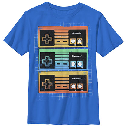 Nintendo Controllers Blue Youth Boys 8-20 T-Shirt