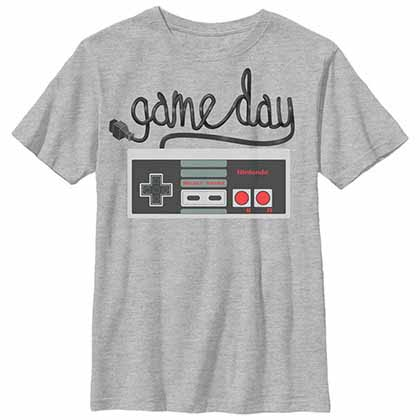 Nintendo Game Day Hey Hey Gray Unisex Youth T-Shirt