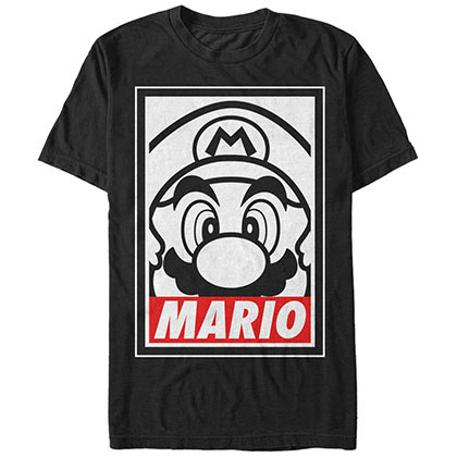 Nintendo Obey Black T-Shirt