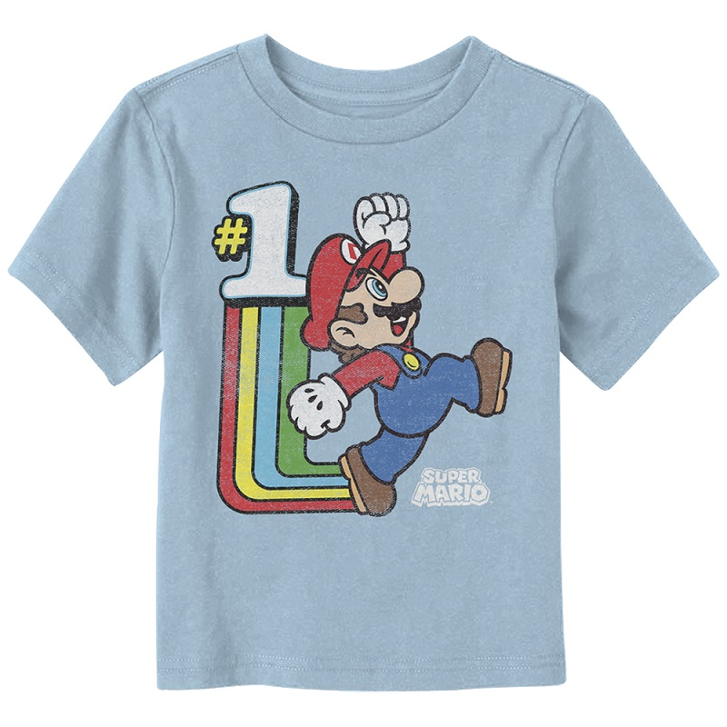 Mario Old School Cool Toddlers Tshirt