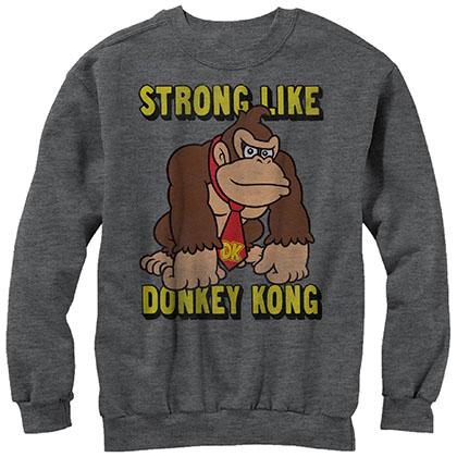 Nintendo Donkey Kong Strong Donkey Gray Sweatshirt