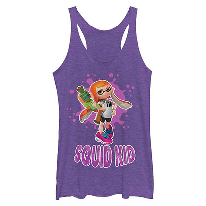 Nintendo Squid Kid Purple Juniors Tank Top