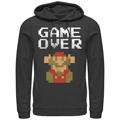 Nintendo Mario Game Over Black Pullover Hoodie