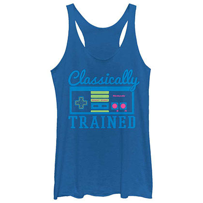 Nintendo Trainer Gamer Blue Juniors Tank Top