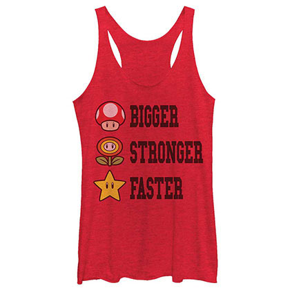 Nintendo Extra Power Red Juniors Tank Top