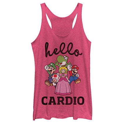 Nintendo Hello Cardio Pink Juniors Tank Top