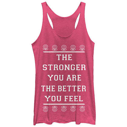 Nintendo Better Stronger Pink Juniors Tank Top