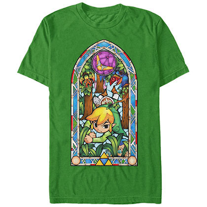 Nintendo Glass Forest Green T-Shirt