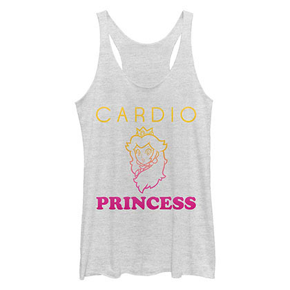 Nintendo Cardio Princess White Juniors Tank Top