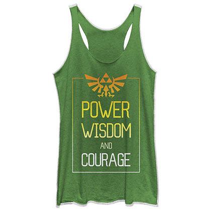 Nintendo Power Zelda Green Juniors Tank Top