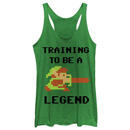 Nintendo Legend Pixel Green Juniors Tank Top