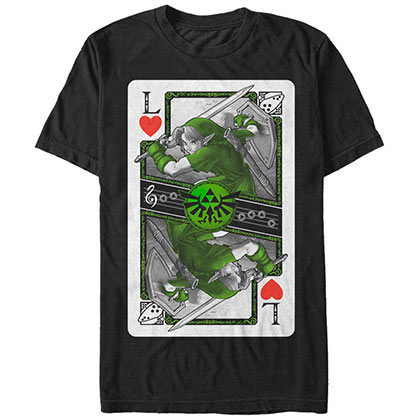 Nintendo Link Card Black T-Shirt
