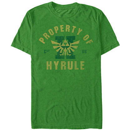 Nintendo Property Of Hyrule Green T-Shirt
