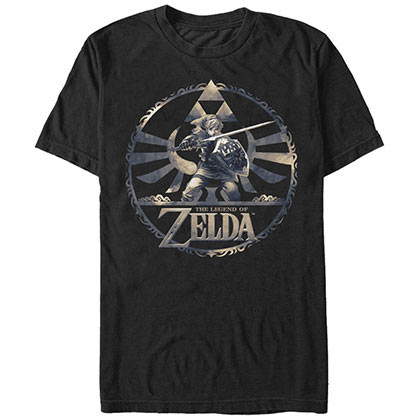 Nintendo Round Legends Black T-Shirt