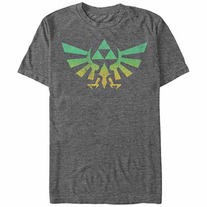 Legend Of Zelda Nintendo Zelda Cresty Gray T-Shirt