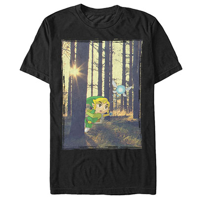 Nintendo Legend of Zelda Forest Link Black T-Shirt