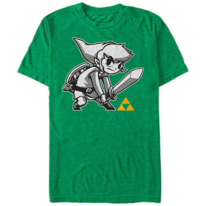 Nintendo Legend of Zelda Links Brave Green T-Shirt