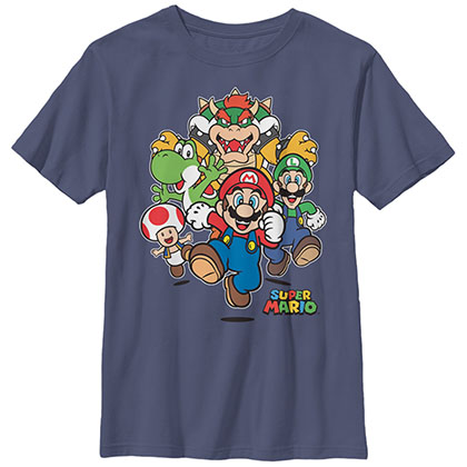 Nintendo Mario Start Race Black Unisex Youth T-Shirt