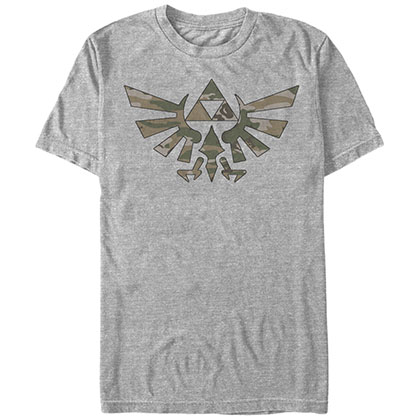 Nintendo Legend of Zelda Emblem Gray T-Shirt