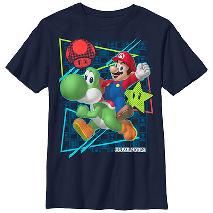 Nintendo Mario Sunday Rider Blue Unisex Youth T-Shirt