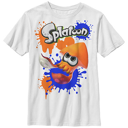 Nintendo Spladoodles White Unisex Youth T-Shirt