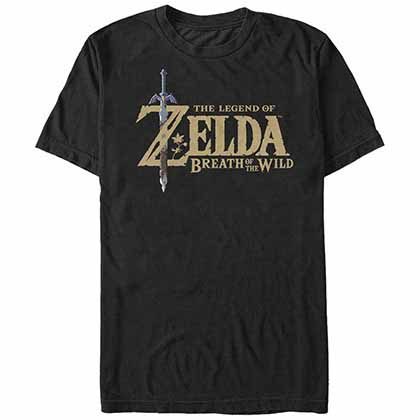 Legend Of Zelda Nintendo Breath Logo Black T-Shirt
