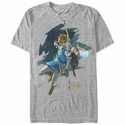 Legend Of Zelda Nintendo Jump Start Gray T-Shirt