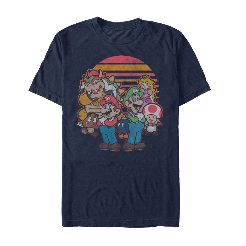 Mario Sunset Cast Tshirt