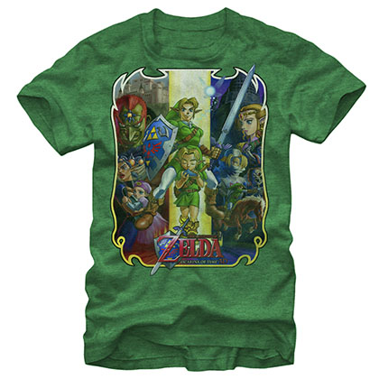 Nintendo Legend Of Zelda Ocarina Green T-Shirt