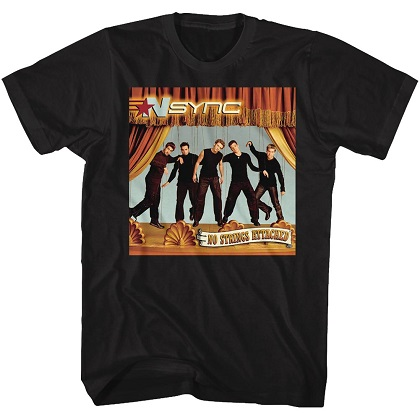 NSYNC No Strings Attached Black Tshirt