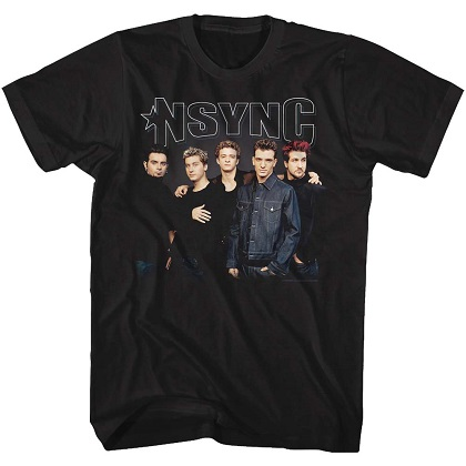 NSYNC Group Shot Black Tshirt