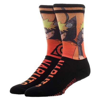 Naruto Sublimation Over Knit Men's Socks