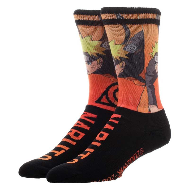 Naruto Sublimation Over Knit Men's Socks