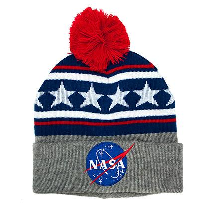 NASA Stars And Stripes Pom Beanie