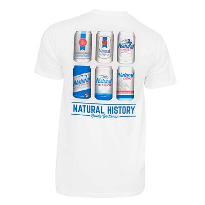 Natty Light Natural History Rowdy Gentleman Men's White TShirt