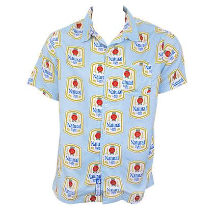 Natural Light Hawaiian Button Down Shirt