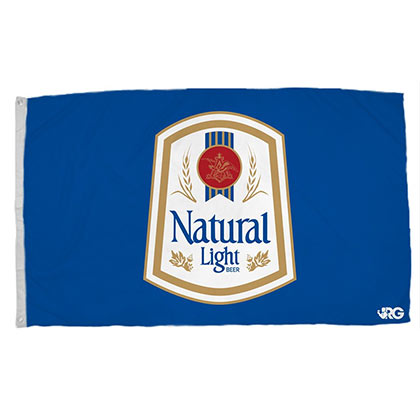 Natural Light Blue Vintage Flag