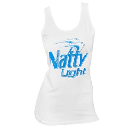 Women's Natty Light Beer White Tank Top