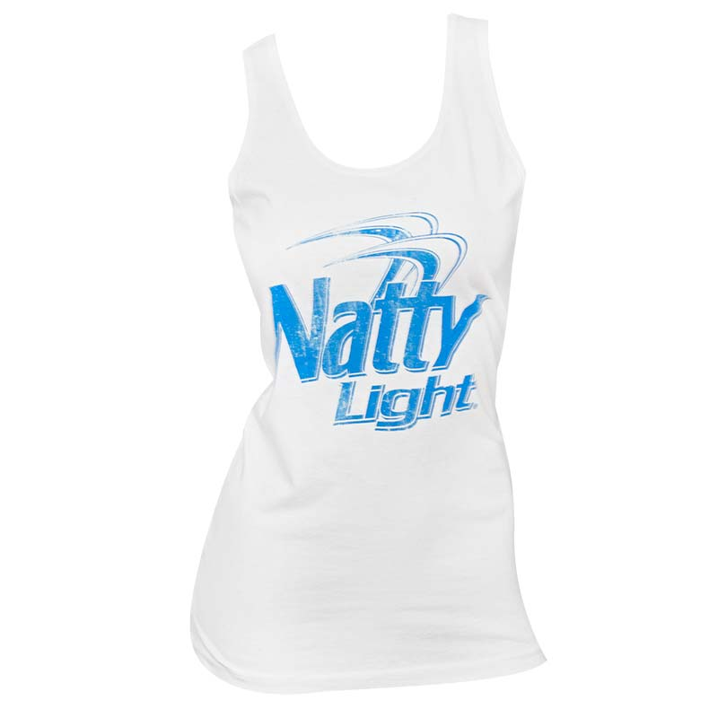 Women's Natty Light Beer White Tank Top