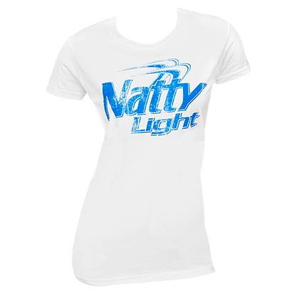 Natural Light Juniors White Faded T-Shirt