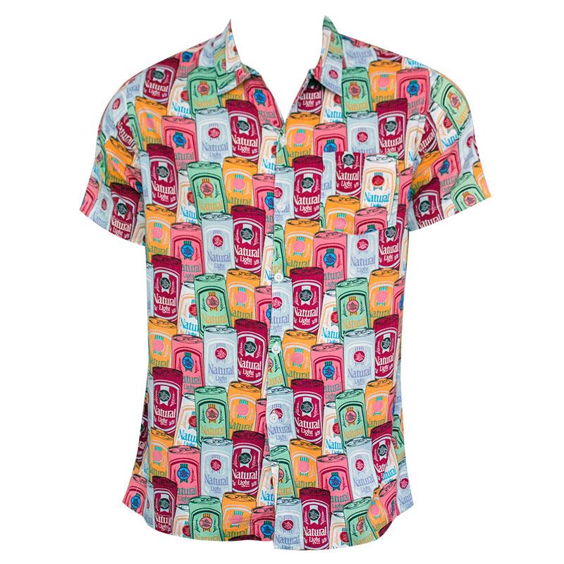 Natty Light Men S Rowdy Gentleman Warhol Button Down Shirt