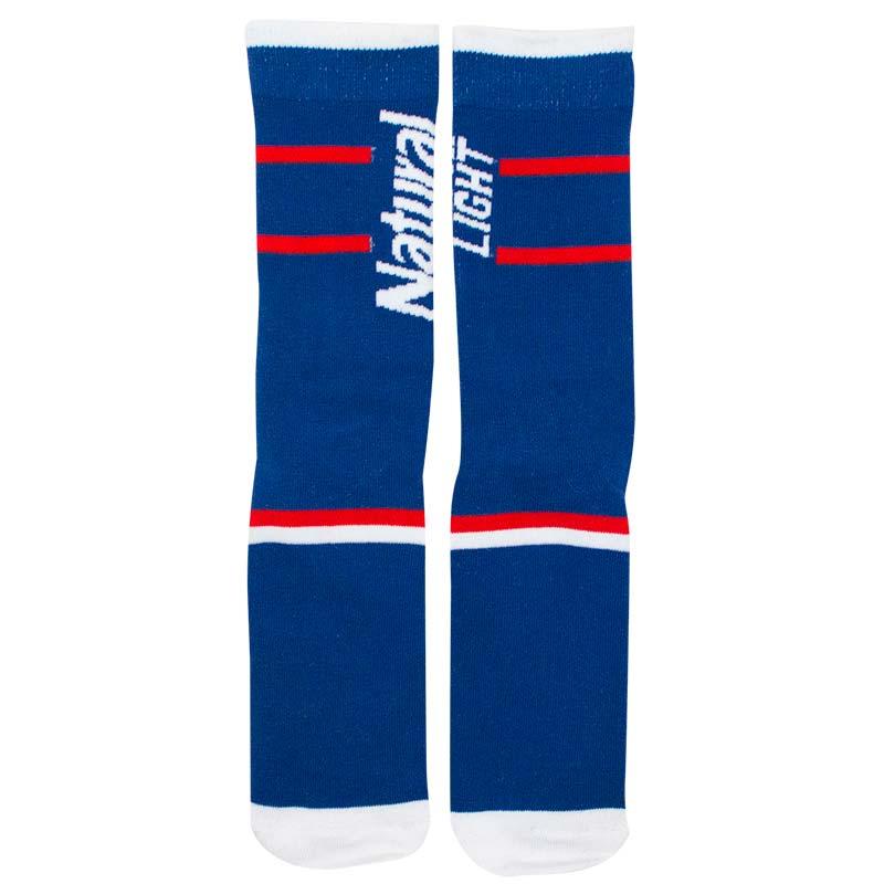 Natty Light Blue Crew Socks
