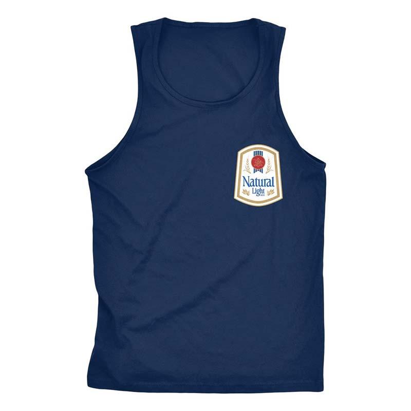 a7dffcd9a4d706 Natty Light Rowdy Gentleman Men s Navy Blue Vintage Logo Tank Top