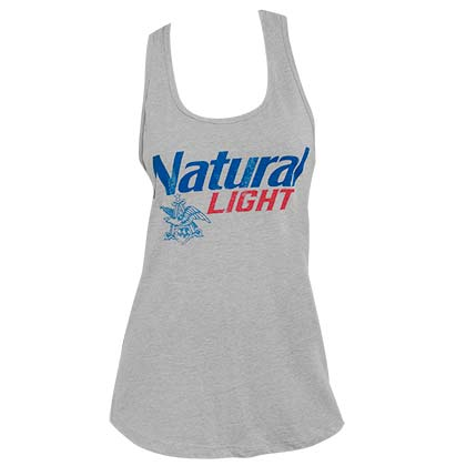 Natural Light Logo Racerback Women's Heather Gray Tank Top