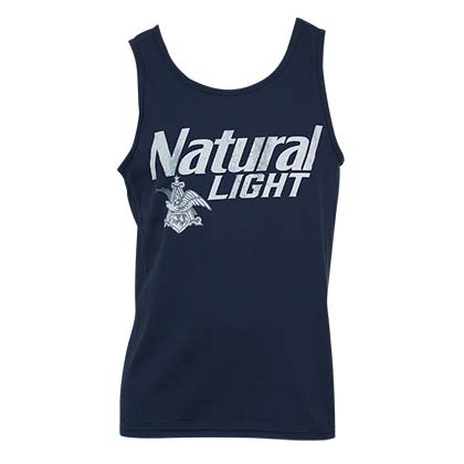 Natural Light Men s Blue Vintage Tank Top 03911c59925d